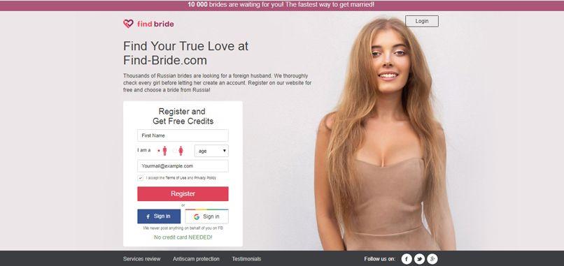 Find-bride.com start page
