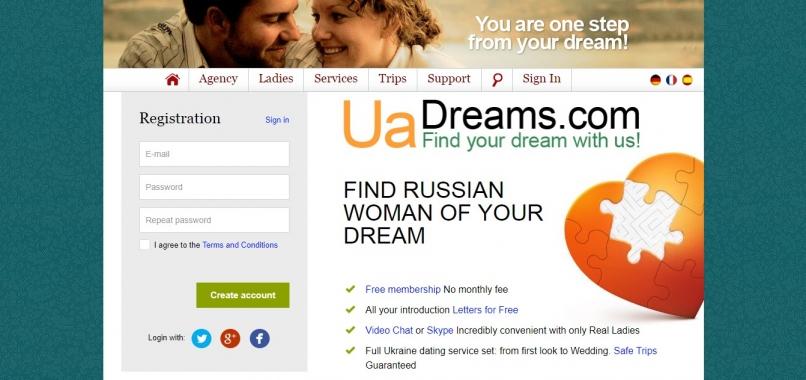 – uadreams.com start page