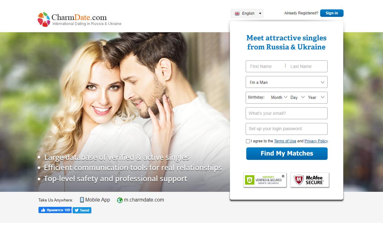 international dating in Russia and Ukraine charmdate.com